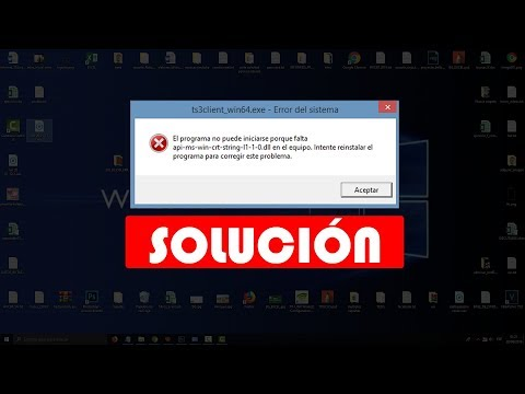 SOLUCIÓN - El Programa No Puede Iniciarse Porque Falta Api-ms-win-crt-runtime-l1-1-0.dll