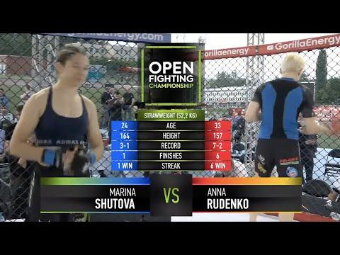 Марина Шутова VS Анна Руденко   GRAND PRIX   OPEN FC 5   FULL HD   18+
