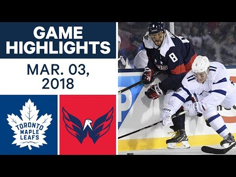 NHL Game Highlights | Maple Leafs vs. Capitals - Mar. 03, 2018