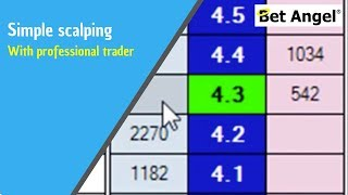 Betfair trading - Bet Angel - Simple scalping -Peter Webb