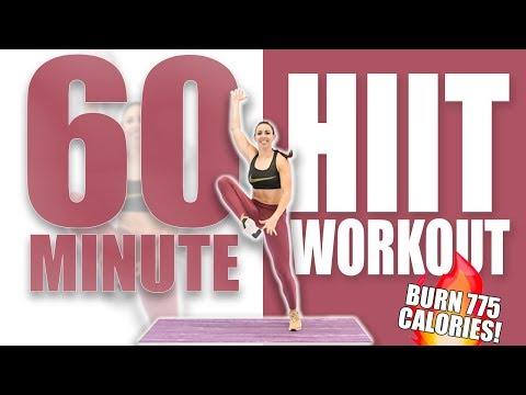 60 Minute HIIT Workout 🔥BURN 775 CALORIES! 🔥Sydney Cummings