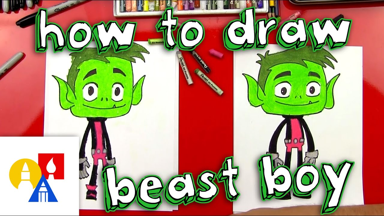 Uncategorized Art Pictures For Kids To Draw how to draw beast boy from teen titans go youtube