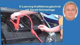 Starthilfe Batterie leer überbrücken Starthilfekabel E-Learning Kraftfahrzeugtechnik