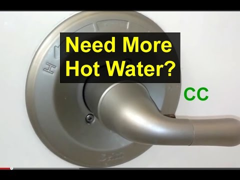 Bathroom tub faucet temperature adjustment - Home Repair Series