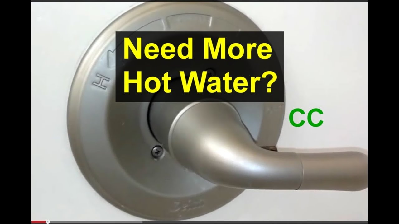 Bathroom Tub Faucet Temperature Adjustment How To Make The Water