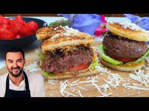 tous-en-cuisine-#31---je-teste-le-burger-au-bŒuf-et-les-fraises-infusÉes-au-thÉ-de-cyril-lignac-!