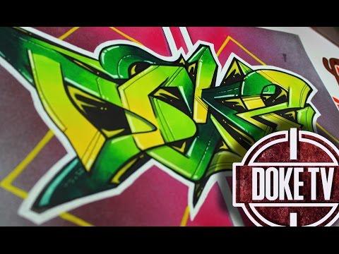 Drawing graffiti on paper maonz doovi - Graffitis en papel ...
