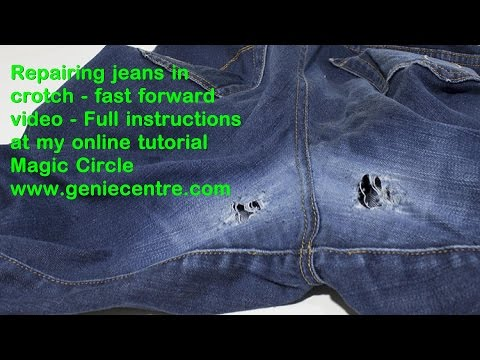 Darn crotch jeans sample