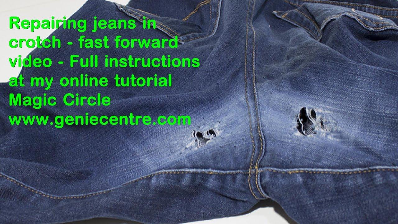 Darn Crotch Jeans Sample Youtube