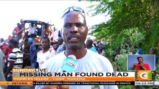 Missing man's body found inside car submerged in river #SundayLive