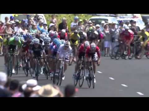Cadel Evans keeps Tour Down Under lead as André Greipel sprints to stage win -- video