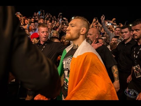 Conor McGregor Dublin walkout view from Octagon