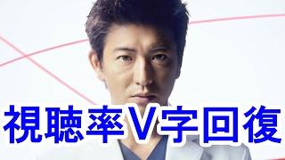 元SMAP木村拓哉さんの『A LIFE』の視聴率がV字回復で自己最高を記録しま...