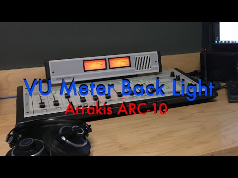 Arrakis ARC-10 Broadcast Mixer - VU Meter Light Mod