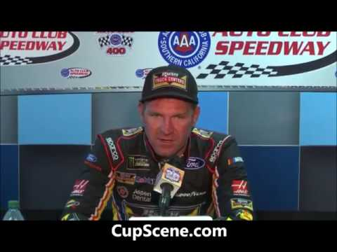 NASCAR at Auto Club Speedway, March 2017: Clint Bowyer post race