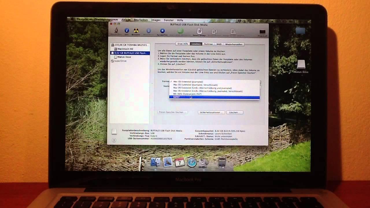Sd Karte Formatieren Mac.Usb Stick Oder Sd Karte Mit Einem Mac Formatieren
