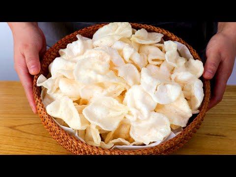 傳統自製蝦片:自己在家做,無任何添加劑,鮮香酥脆,比買的好吃【夏媽廚房】