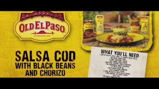 Salsa Cod with Black Beans and Chorizo | Andy Bates | Old El Paso
