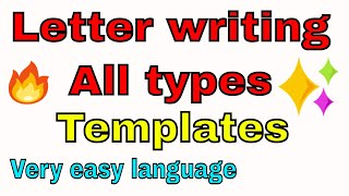 LETTER WRITING | Easy Format Letter | FORMAL AND INFORMAL LETTER| Easy To Understand