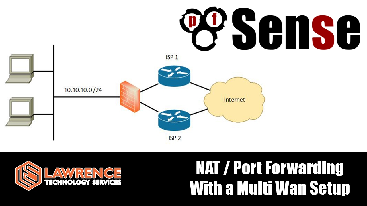 pfsense how to nat port forward with a multiple wan fail over setup [ 1280 x 720 Pixel ]