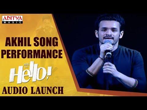 Akhil Song Performance @ HELLO! Movie Audio Launch  Akhil Akkineni, Kalyani Priyadarshan