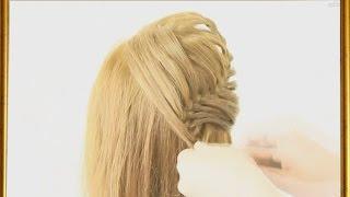 Прически на длинные волосы  Коса водопад