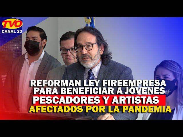 REFORMAN LEY FIREMPRESA PARA BENEFICIAR A JÓVENES, PESCADORES Y ARTISTAS