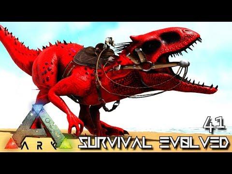 ARK Survival Evolved 300 T REX VS 10 INDOMINUS REX & ALPHA REX MEGA