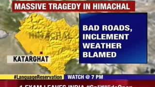 20 Feared dead in a bus accident in Shimla