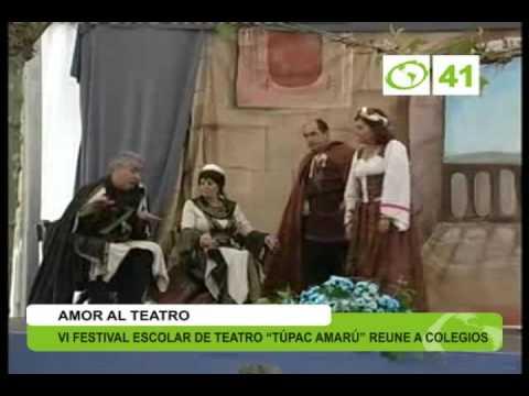"VI festival escolar de teatro ""Túpac Amaru"" reune a colegios - Trujillo"