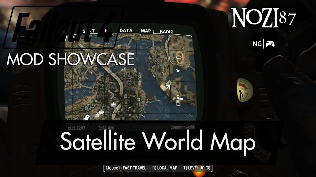 Fallout 4 Mod Showcase Satellite World Map By Floorbelow Youtube