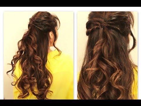 ★ CUTE TWISTED,FLIP HALF,UP HALF,DOWN FALL HAIRSTYLES FOR MEDIUM LONG HAIR  TUTORIAL
