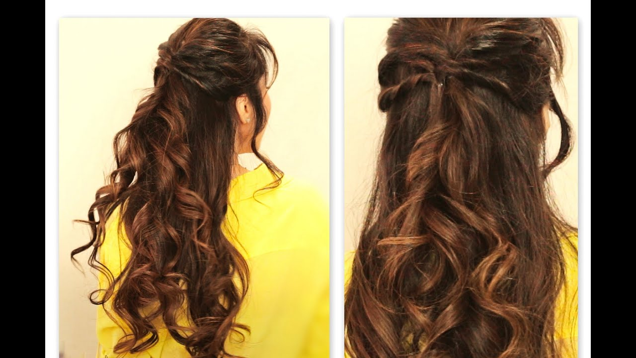 Cute Twisted Flip Half Up Half Down Fall Hairstyles For Medium