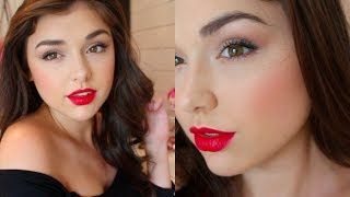 One of Chloé Zadori's most viewed videos: Tutorial: Miranda Kerr Inspired Makeup with Red Lips | Chloé Zadori