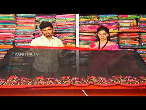 Black & Red Colour Supernet Kota Saree || Hello Ladies || New Arrivals || Vanitha TV