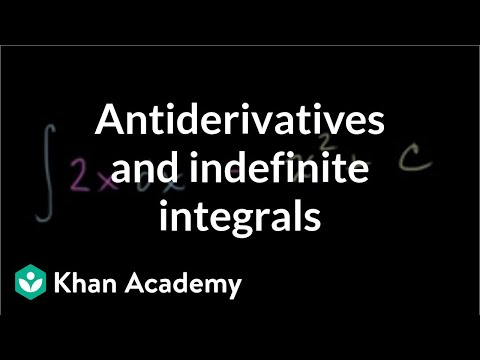 Antiderivatives and indefinite integrals