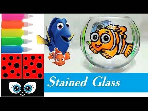 Stained Glass for Kids Nemo and Dory / Cute Aquarium Design Craft 🎨 🐠 🐟