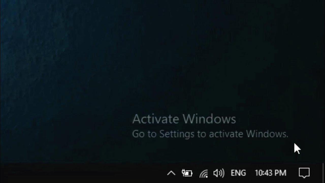 Activate Windows 10 watermark fix | 2019 Still works