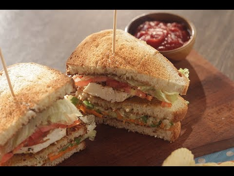 Veg Club Sandwich | Sanjeev Kapoor Khazana