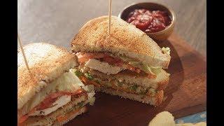 Veg Club Sandwich  Sanjeev Kapoor Khazana