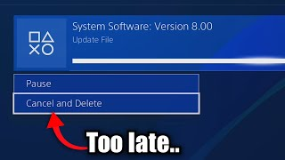 Honestly, this is probably why Playstation Update 8.0 happened..