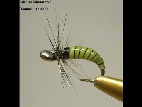 Вязание мушки . Fly Tying - Gamma  Toxic©