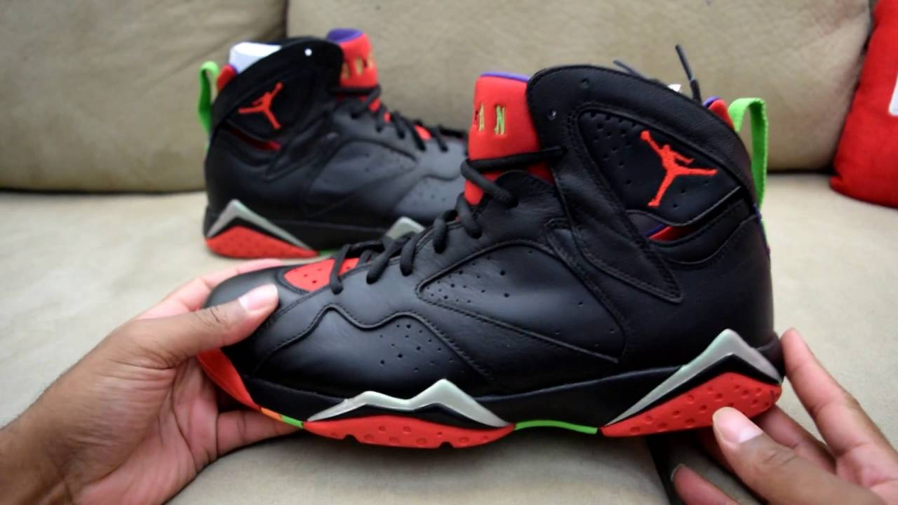 air jordan 7 marvin the martian history alive