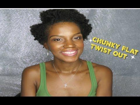 natural hair chunky flat twist