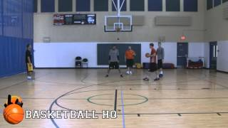 Basketball Defensive Drills - 2 on 2 Live Wing Closeout Drill
