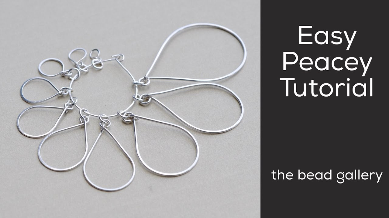Easy Peacey Wire Component at The Bead Gallery - YouTube