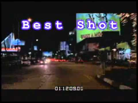 Rear POV of Mountain Road - City Traffic at Night - Palm Tree Alley - Best  Shot - Stock Footage