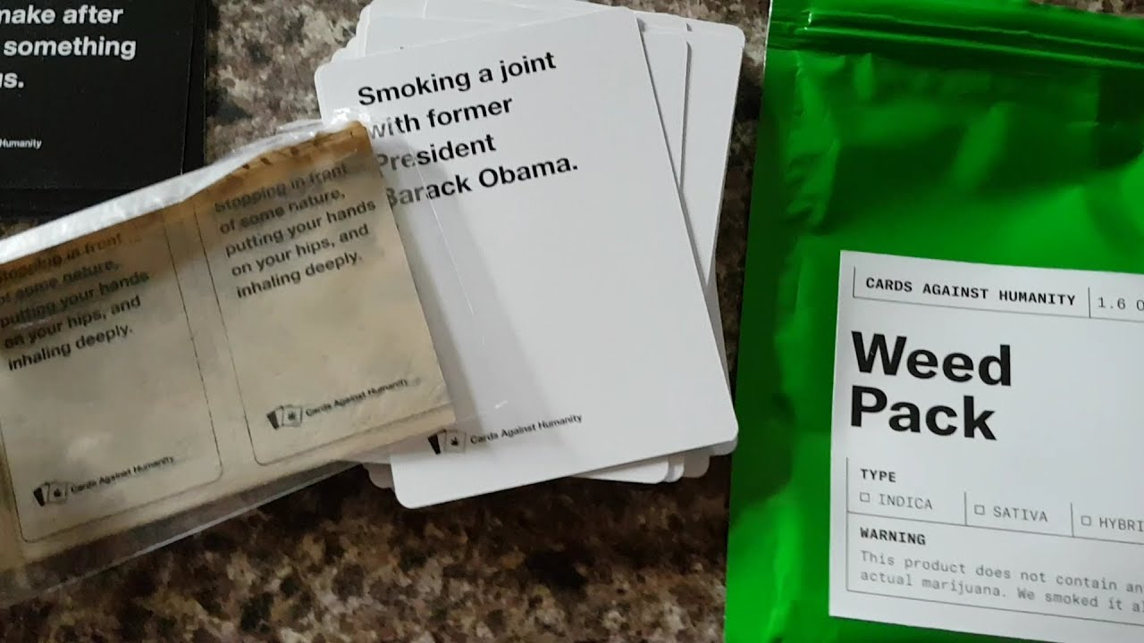 graphic relating to Cards Against Humanity Printable Expansions identified as Playing cards From Humanity Weed Pack