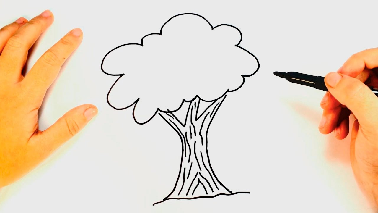 How to draw a tree with children in a fun and easy way 87