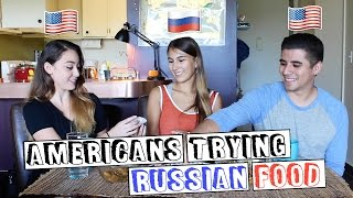 Americans trying Russian food